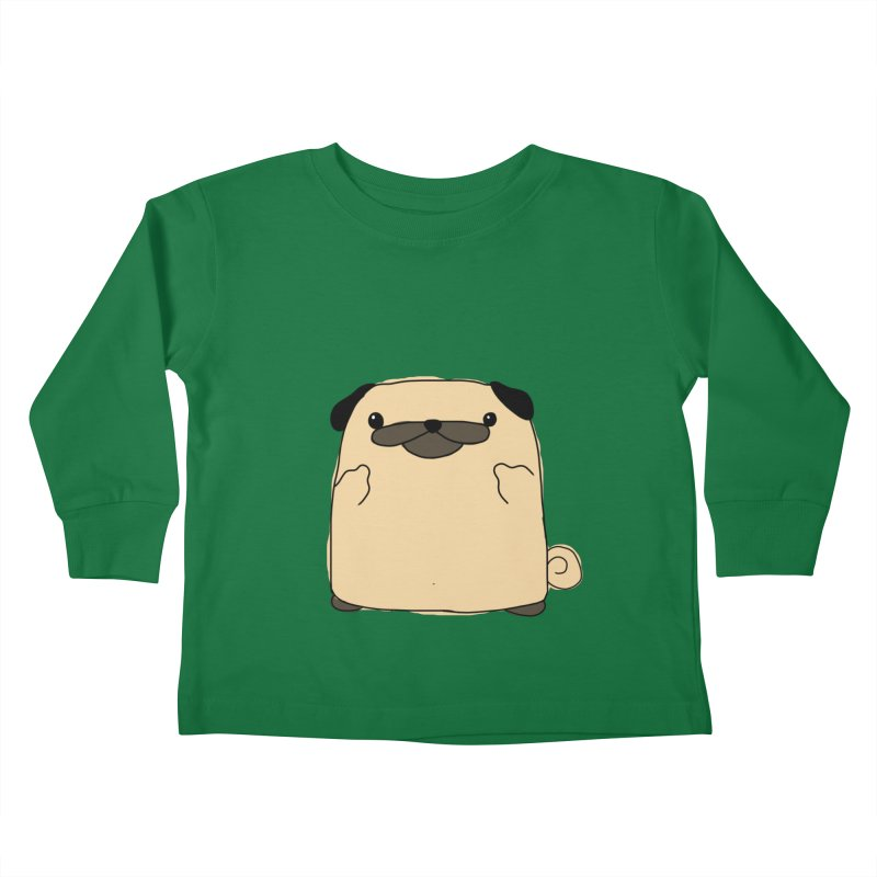 Pug Double Bird Kids Toddler Longsleeve T-Shirt by oneweirddude's Artist Shop