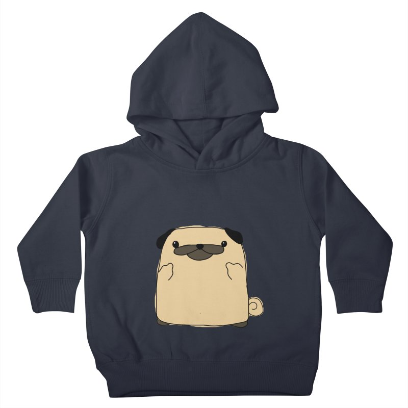 Pug Double Bird Kids Toddler Pullover Hoody by oneweirddude's Artist Shop