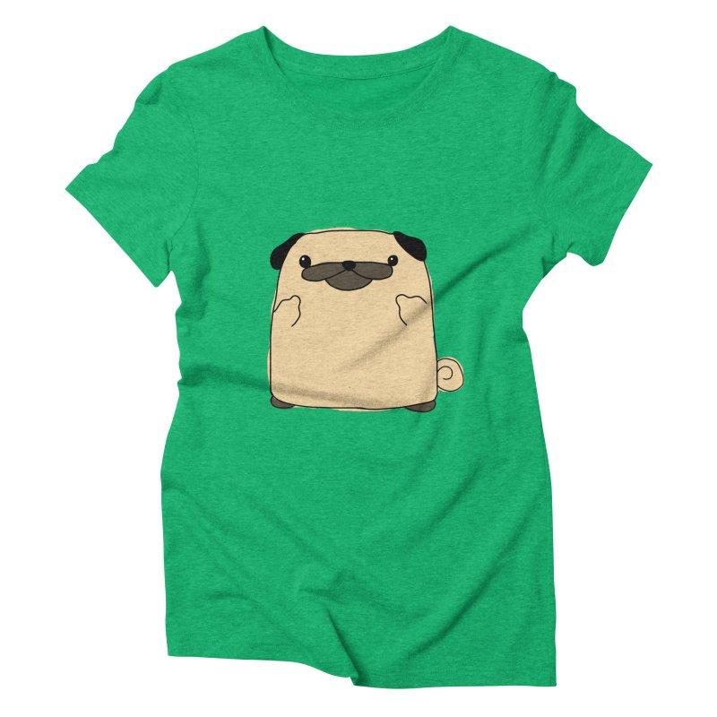 Pug Double Bird Women's Triblend T-shirt by oneweirddude's Artist Shop
