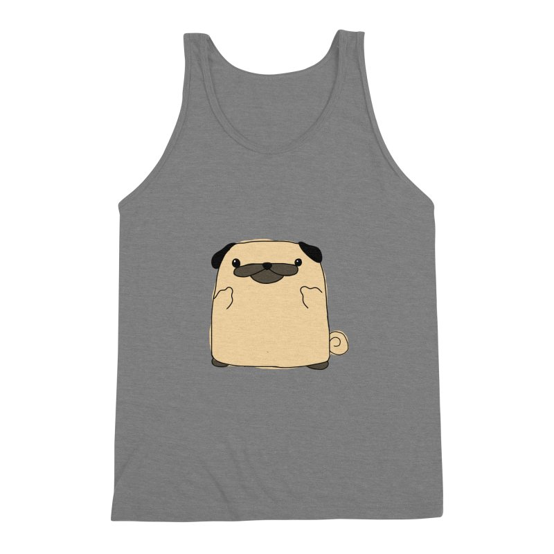 Pug Double Bird Men's Triblend Tank by oneweirddude's Artist Shop