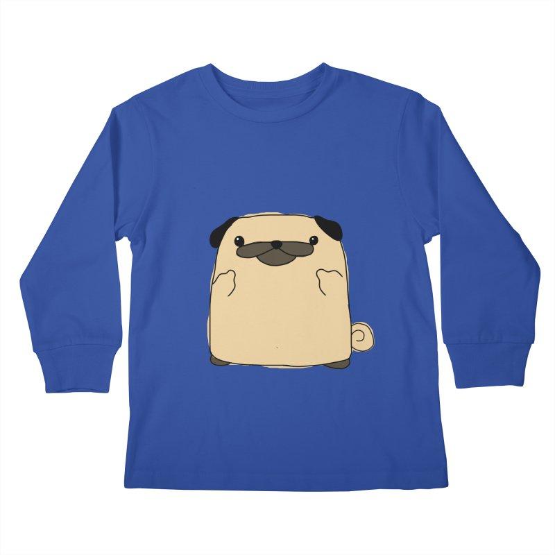 Pug Double Bird Kids Longsleeve T-Shirt by oneweirddude's Artist Shop