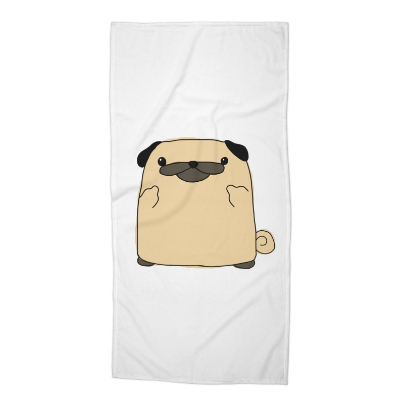 Pug Double Bird Accessories Beach Towel by oneweirddude's Artist Shop