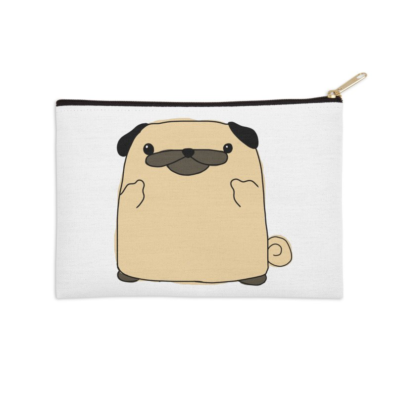 Pug Double Bird Accessories Zip Pouch by oneweirddude's Artist Shop