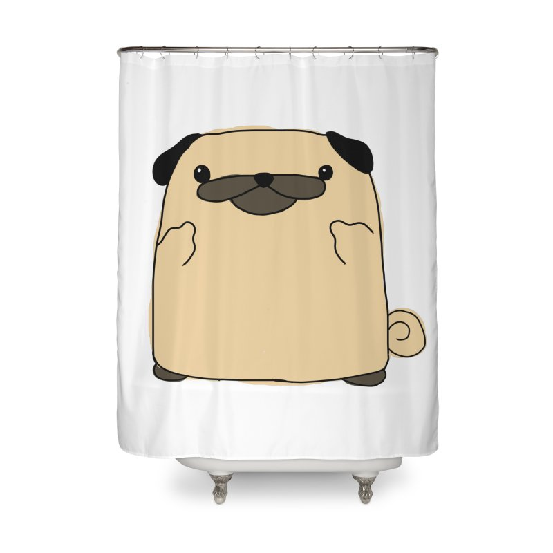 Pug Double Bird Home Shower Curtain by oneweirddude's Artist Shop