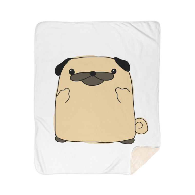 Pug Double Bird Home Sherpa Blanket Blanket by oneweirddude's Artist Shop