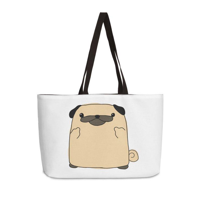 Pug Double Bird Accessories Weekender Bag Bag by oneweirddude's Artist Shop