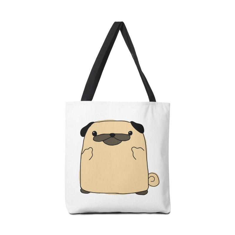 Pug Double Bird Accessories Tote Bag Bag by oneweirddude's Artist Shop