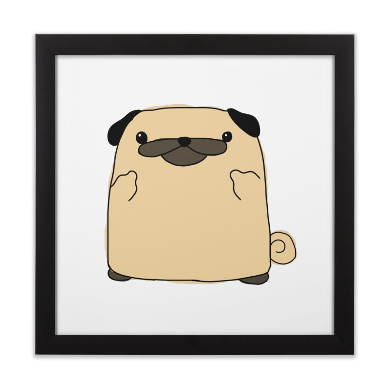 Pug Double Bird Home Framed Fine Art Print by oneweirddude's Artist Shop