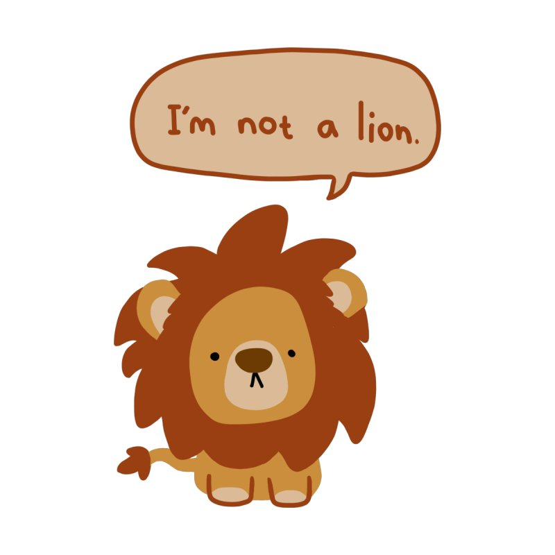 Lyin' Lion by oneweirddude's Artist Shop
