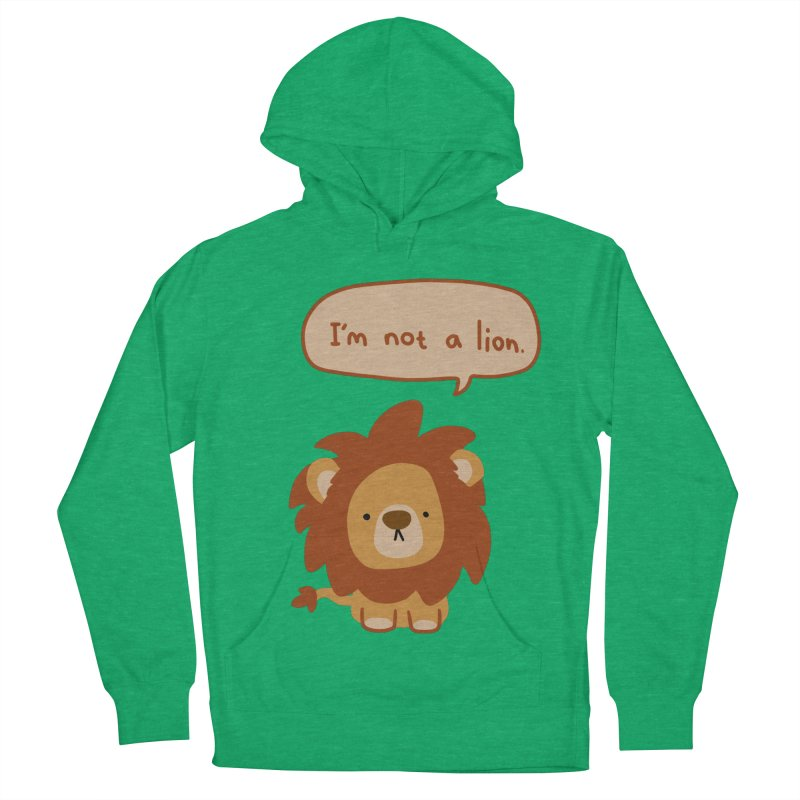 Lyin' Lion Women's French Terry Pullover Hoody by oneweirddude's Artist Shop