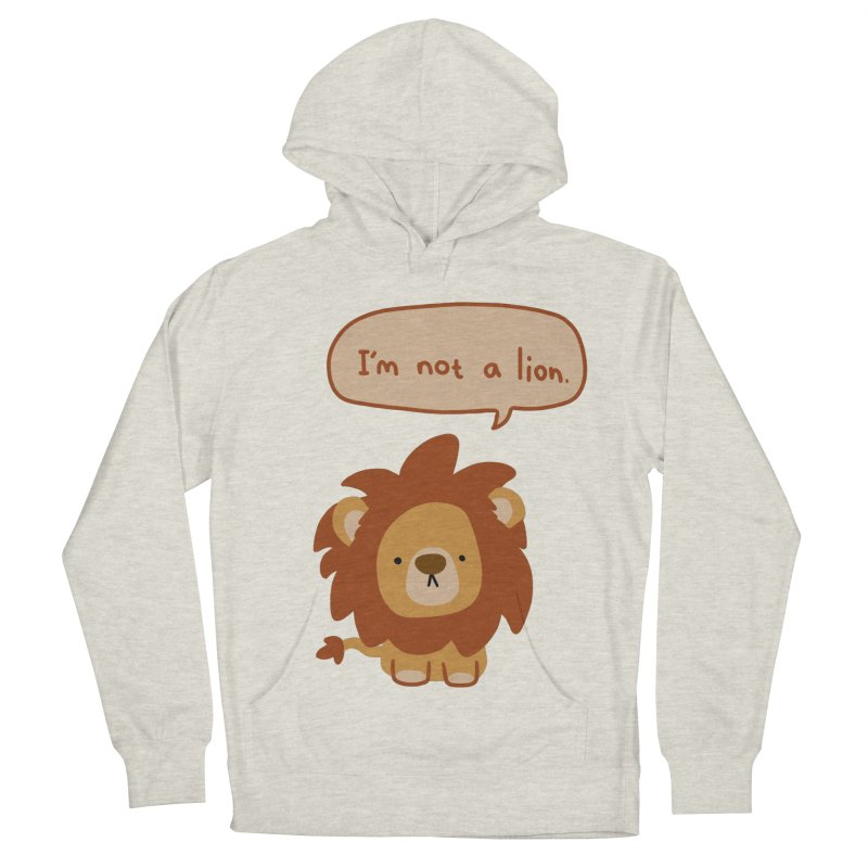 Lyin' Lion Men's French Terry Pullover Hoody by oneweirddude's Artist Shop