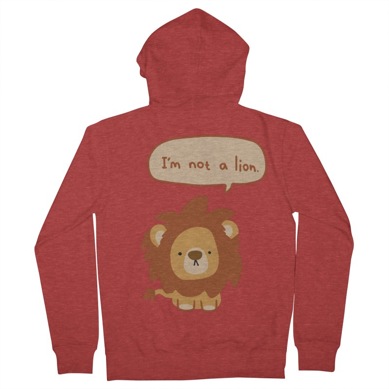 Lyin' Lion Women's French Terry Zip-Up Hoody by oneweirddude's Artist Shop