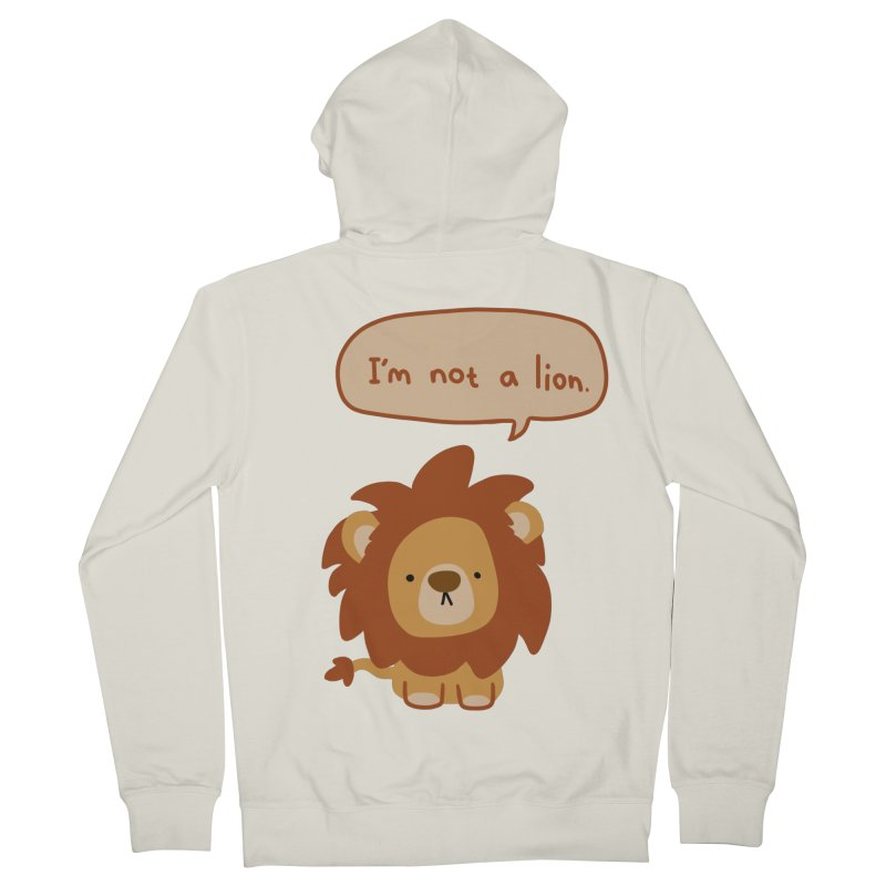 Lyin' Lion Women's Zip-Up Hoody by oneweirddude's Artist Shop
