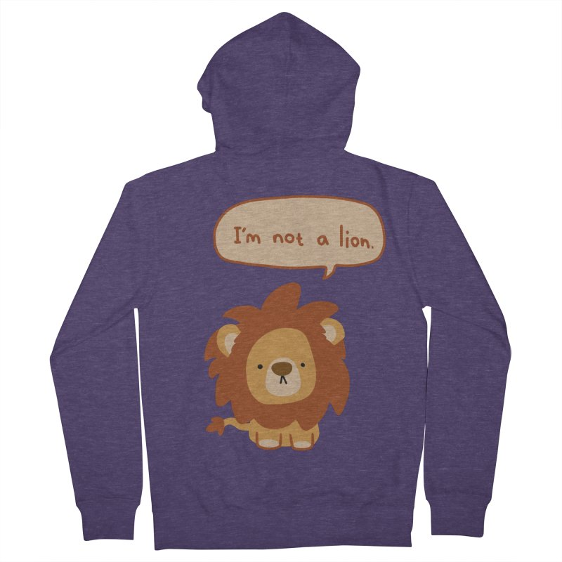 Lyin' Lion Men's Zip-Up Hoody by oneweirddude's Artist Shop