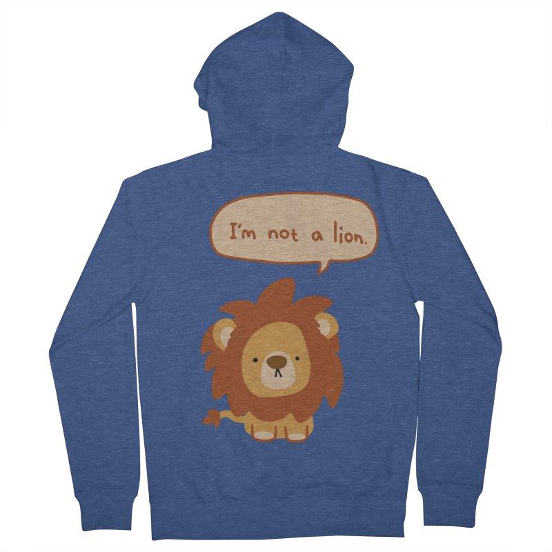 Lyin' Lion Men's Zip-Up Hoody by oneweirddude's Artist Shop