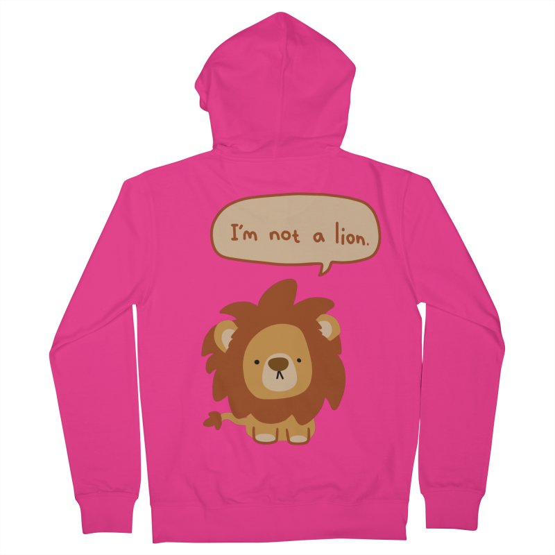 Lyin' Lion Men's French Terry Zip-Up Hoody by oneweirddude's Artist Shop