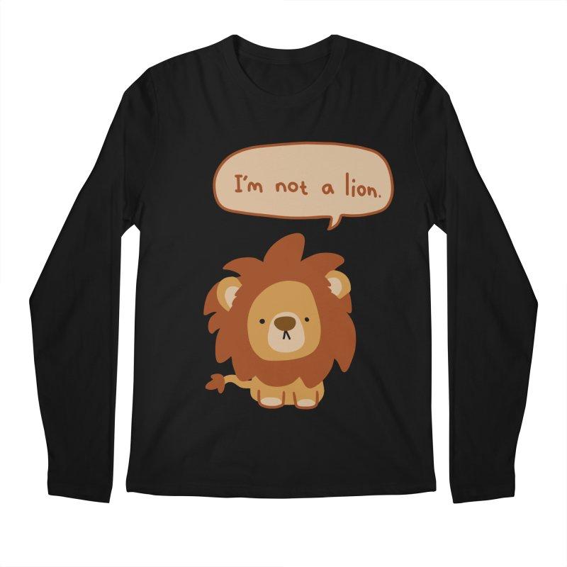 Lyin' Lion Men's Regular Longsleeve T-Shirt by oneweirddude's Artist Shop
