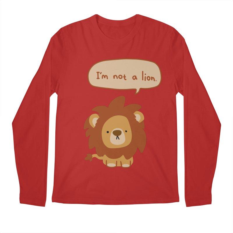 Lyin' Lion Men's Longsleeve T-Shirt by oneweirddude's Artist Shop