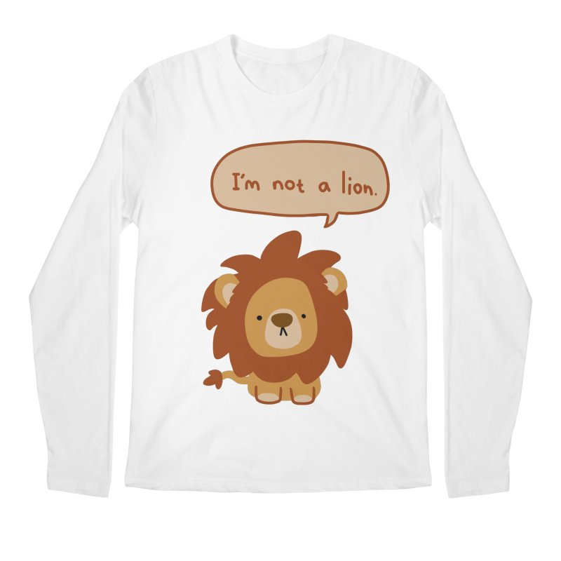 Lyin' Lion Men's Longsleeve T-Shirt by oneweirddude's Artist Shop