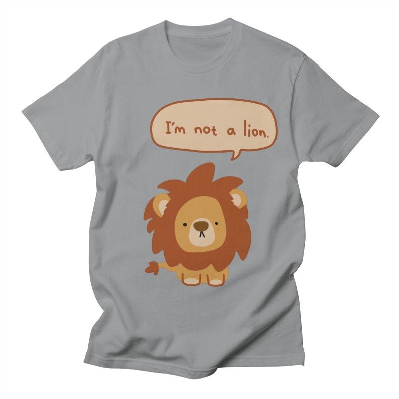 Lyin' Lion Men's T-Shirt by oneweirddude's Artist Shop
