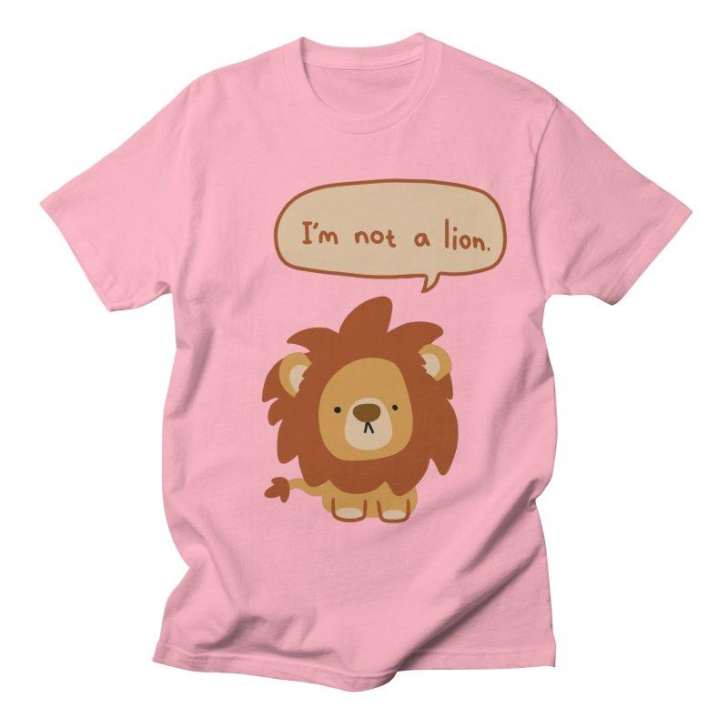 Lyin' Lion Women's Regular Unisex T-Shirt by oneweirddude's Artist Shop
