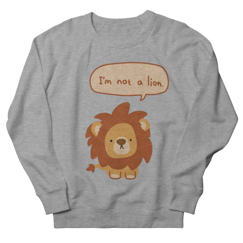 Lyin' Lion Women's Sweatshirt by oneweirddude's Artist Shop