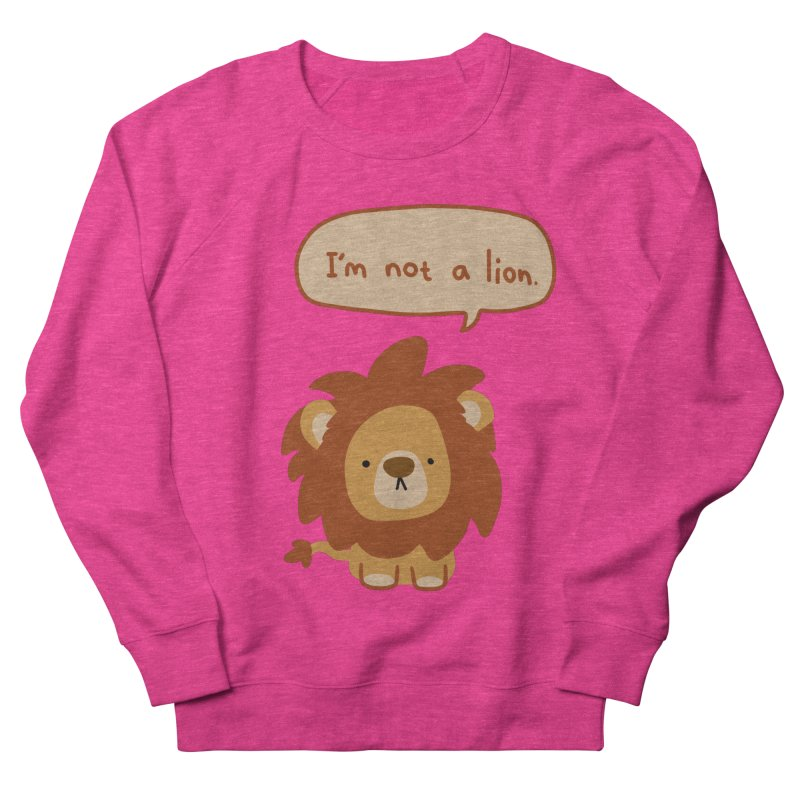Lyin' Lion Men's Sweatshirt by oneweirddude's Artist Shop