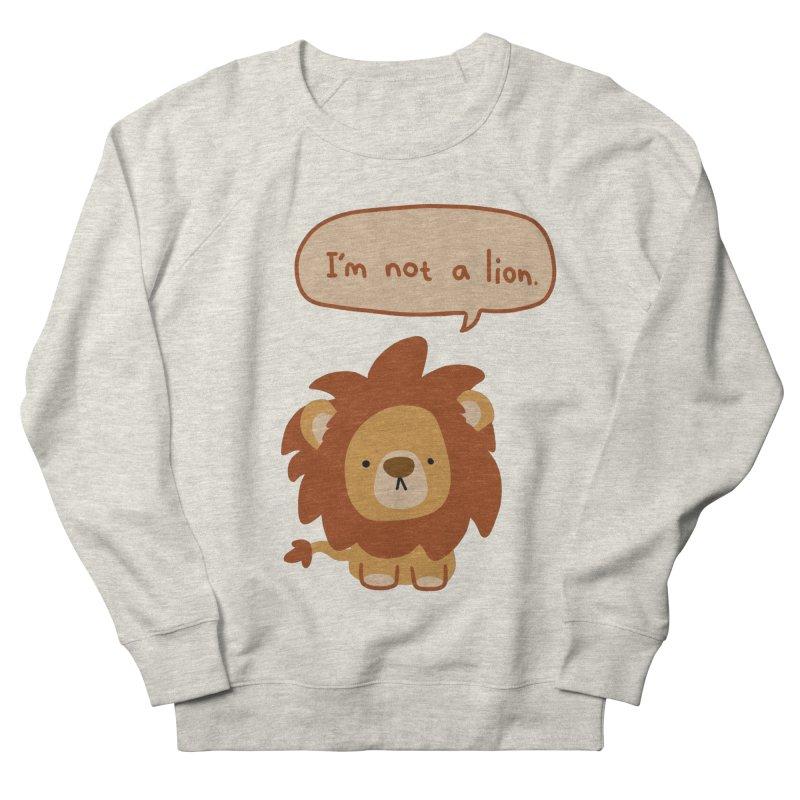 Lyin' Lion Men's Sweatshirt by oneweirddude's Artist Shop