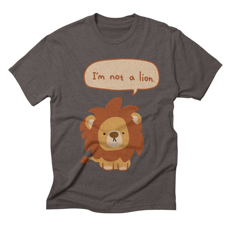 Lyin' Lion Men's Triblend T-shirt by oneweirddude's Artist Shop