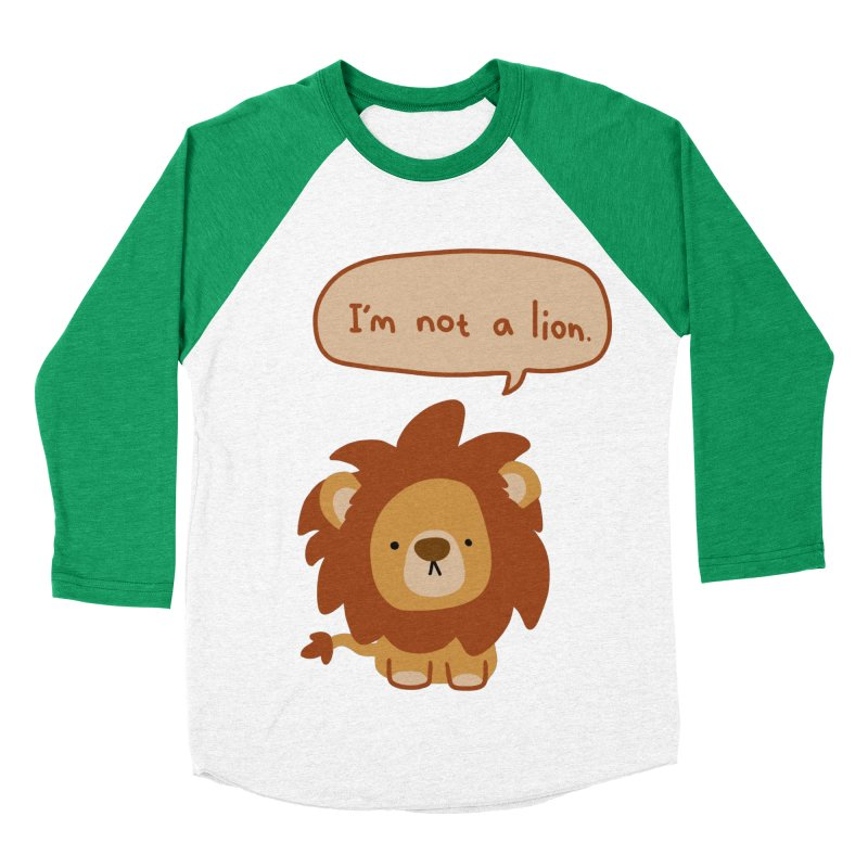 Lyin' Lion Women's Baseball Triblend Longsleeve T-Shirt by oneweirddude's Artist Shop