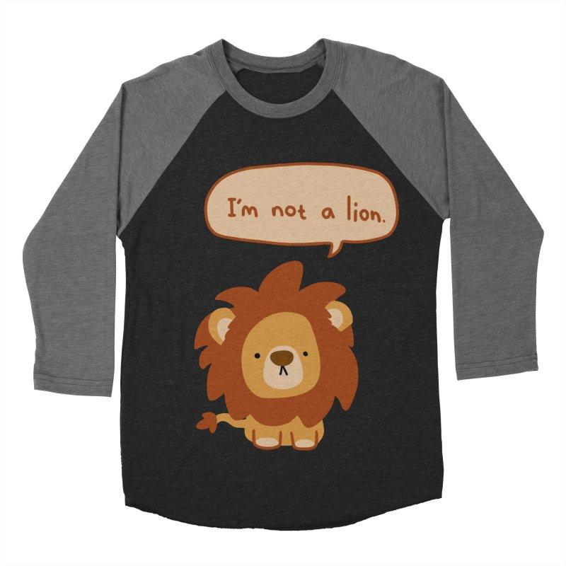 Lyin' Lion Women's Baseball Triblend T-Shirt by oneweirddude's Artist Shop