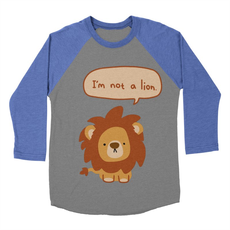Lyin' Lion Men's Baseball Triblend T-Shirt by oneweirddude's Artist Shop