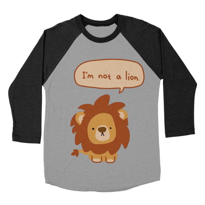 Lyin' Lion Men's Baseball Triblend T-Shirt by oneweirddude's Artist Shop