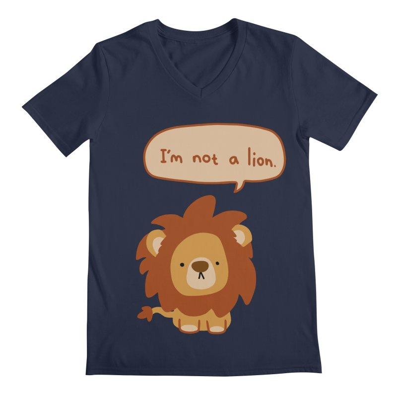 Lyin' Lion Men's Regular V-Neck by oneweirddude's Artist Shop