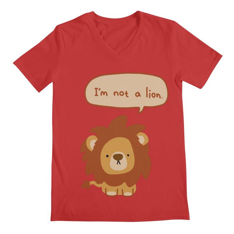 Lyin' Lion Men's V-Neck by oneweirddude's Artist Shop