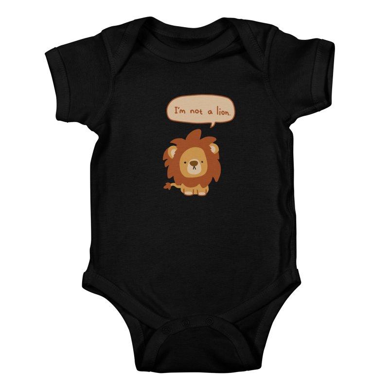 Lyin' Lion Kids Baby Bodysuit by oneweirddude's Artist Shop