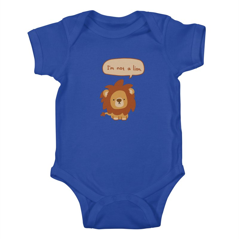 Lyin' Lion Kids Baby Bodysuit by oneweirddude's Artist Shop