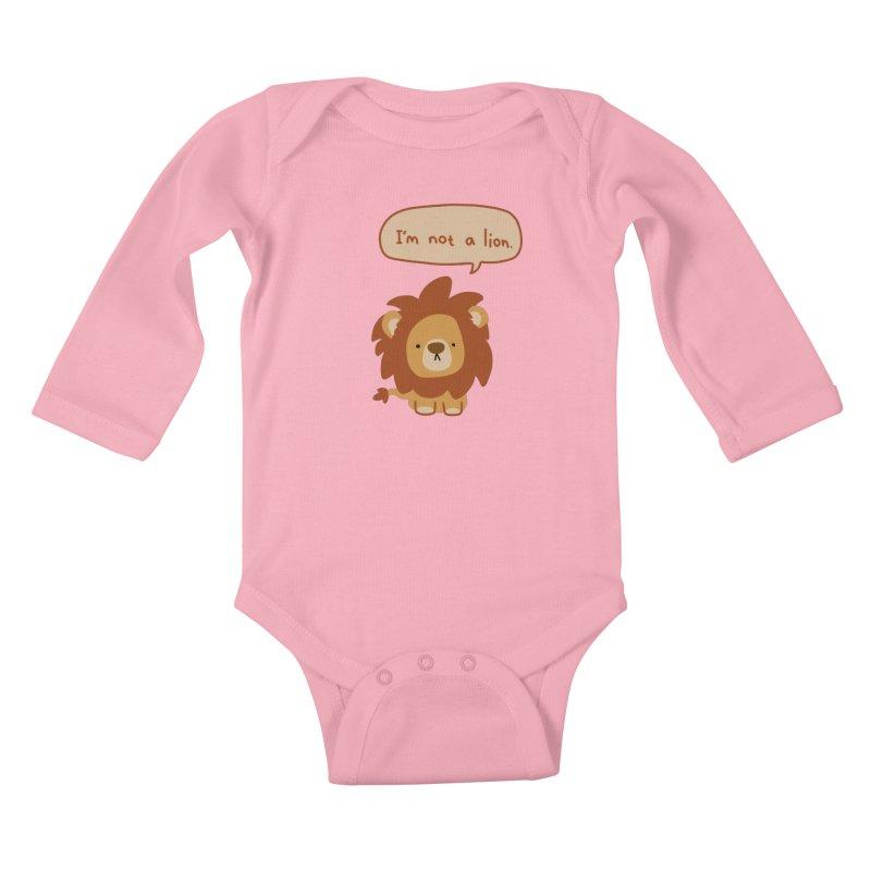 Lyin' Lion Kids Baby Longsleeve Bodysuit by oneweirddude's Artist Shop