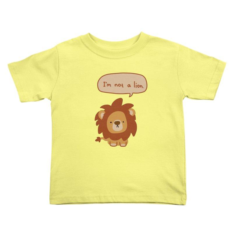Lyin' Lion Kids Toddler T-Shirt by oneweirddude's Artist Shop