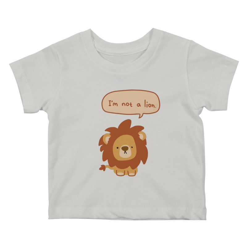 Lyin' Lion Kids Baby T-Shirt by oneweirddude's Artist Shop