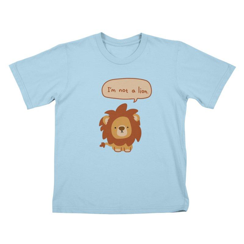 Lyin' Lion Kids T-Shirt by oneweirddude's Artist Shop