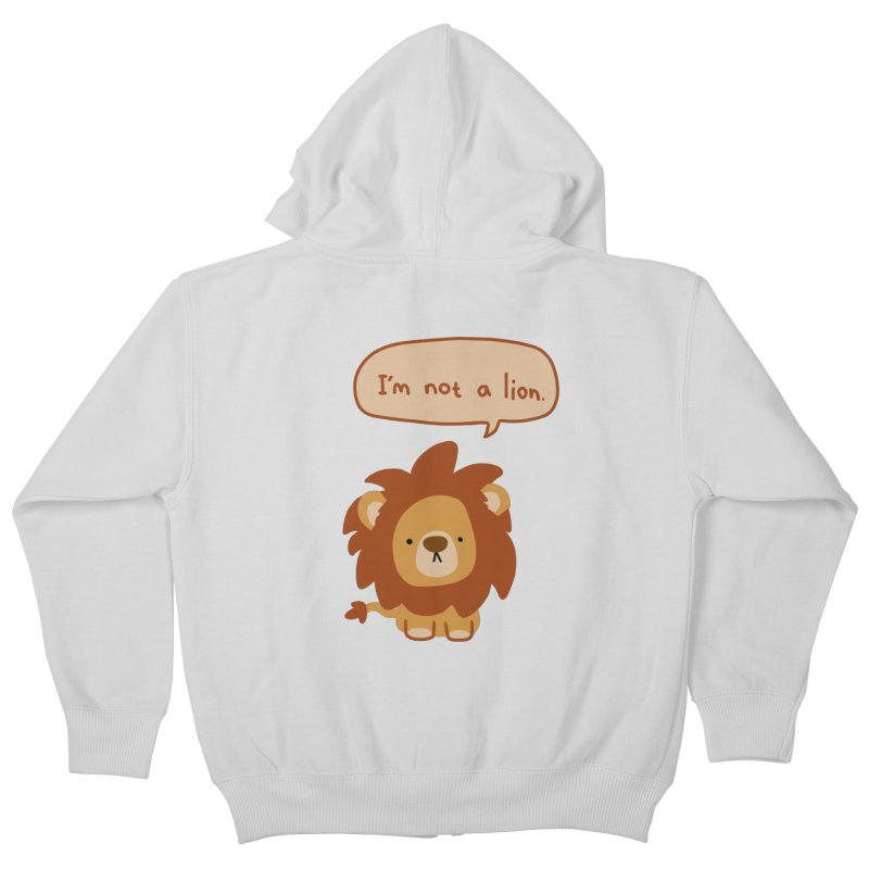 Lyin' Lion Kids Zip-Up Hoody by oneweirddude's Artist Shop