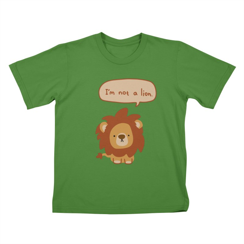 Lyin' Lion Kids T-Shirt by oneweirddude's Artist Shop