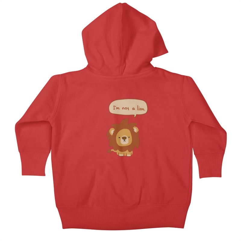 Lyin' Lion Kids Baby Zip-Up Hoody by oneweirddude's Artist Shop