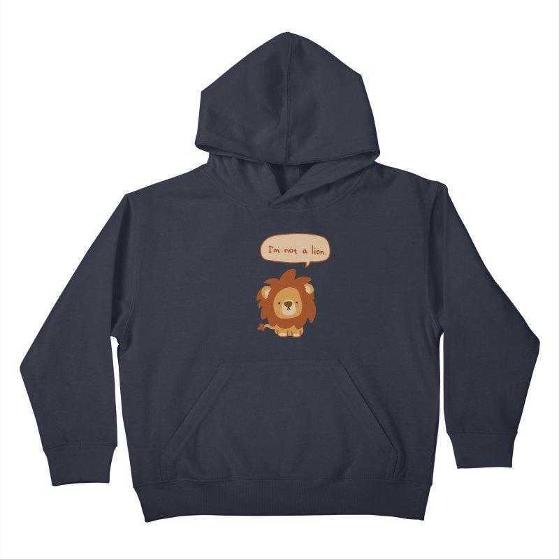 Lyin' Lion Kids Pullover Hoody by oneweirddude's Artist Shop