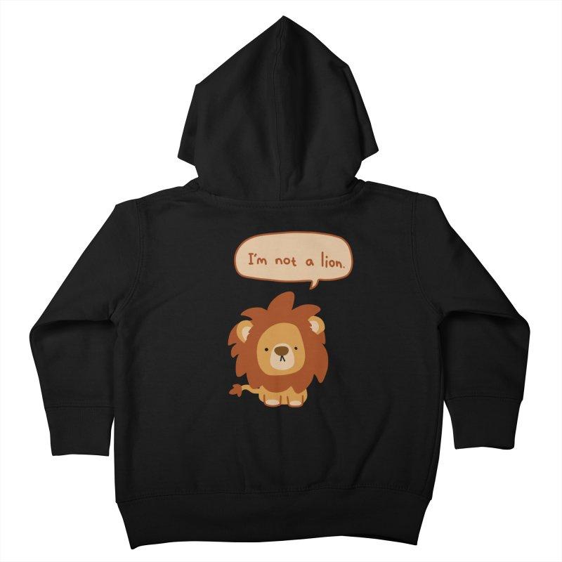 Lyin' Lion Kids Toddler Zip-Up Hoody by oneweirddude's Artist Shop