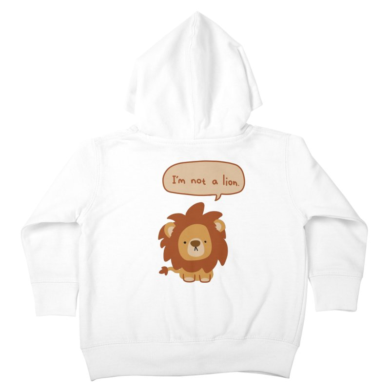 Lyin' Lion Kids Toddler Zip-Up Hoody by oneweirddude's Artist Shop