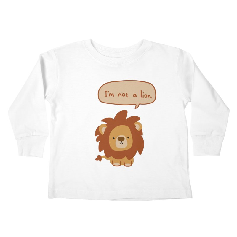 Lyin' Lion Kids Toddler Longsleeve T-Shirt by oneweirddude's Artist Shop