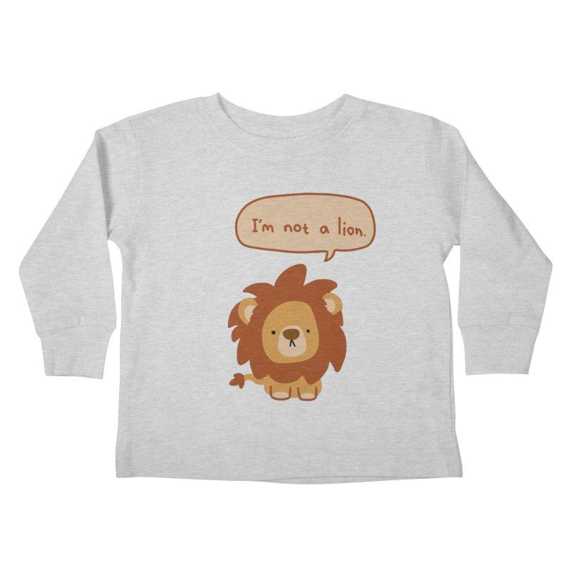 Lyin' Lion Kids Toddler Longsleeve T-Shirt by oneweirddude's Artist Shop