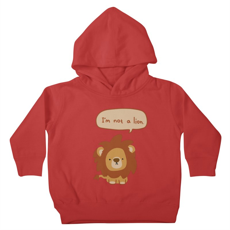 Lyin' Lion Kids Toddler Pullover Hoody by oneweirddude's Artist Shop